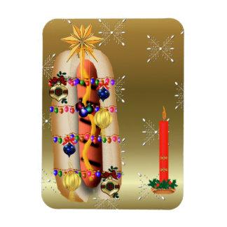 Christmas Hotdog Magnet
