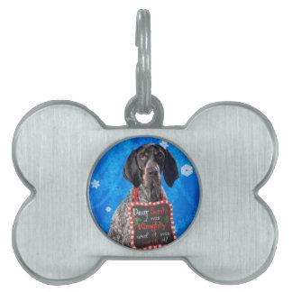 Christmas Hound Pet Name Tag