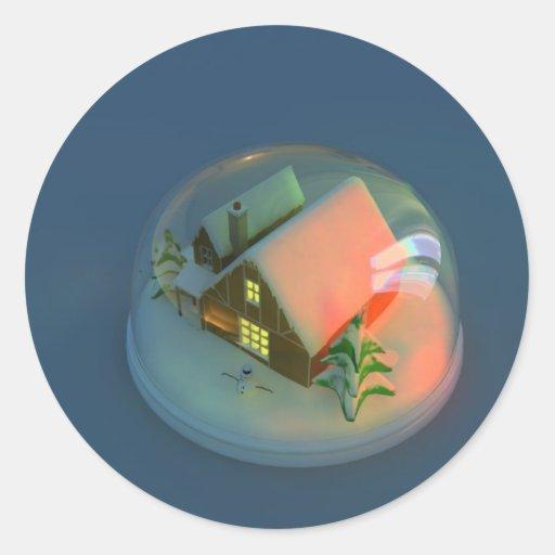 Christmas House snow globe Sticker