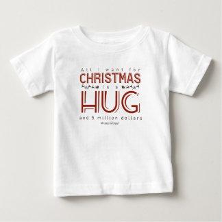 Christmas Hug Money Gift Real Present Baby T-Shirt