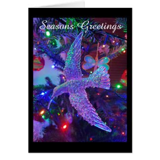 Christmas Humming Bird Card
