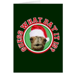Christmas Hump Day Camel Santa Greeting Cards
