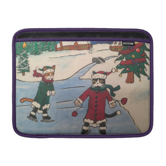 Christmas Ice Skating MacBook Sleeve