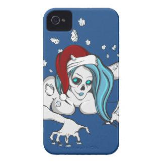 Christmas Ice Zombie Skeleton iPhone 4 Case