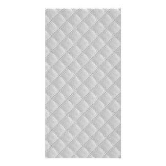 Christmas Icy White Quilt Pattern Custom Photo Card