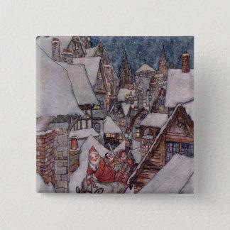 Christmas illustrations 15 cm square badge