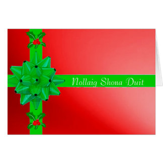 Christmas image for Irish Christmas greeting card