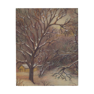Christmas in Aitkin Wood Wall Art
