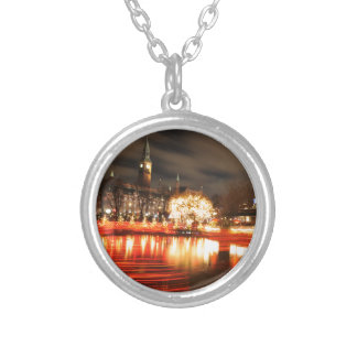 Christmas in Copehnagen, Denmark Silver Plated Necklace