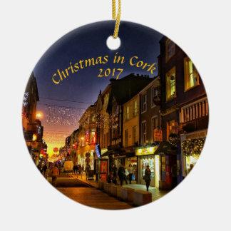 Christmas in Cork, Ireland Magnet- Oliver Plunkett Ceramic Ornament