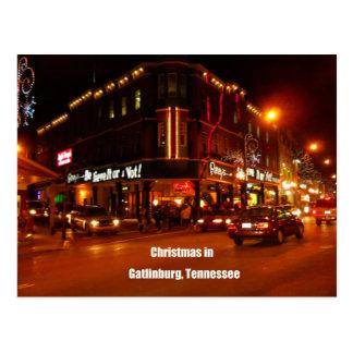 Christmas in Gatlinburg, Tennessee Postcard