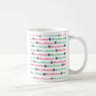 christmas in green and red mug