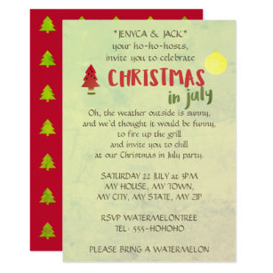 in july christmas invitations announcements zazzle com au