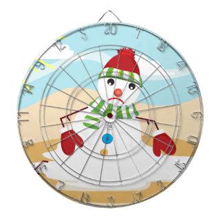 christmas in july snowman dartboard