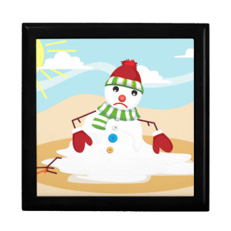 christmas in july snowman gift box