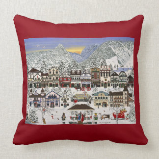 """Christmas"" in Leavenworth, Washington Cushion"