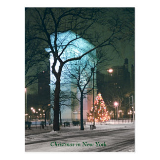 Christmas in New York (discount on multiple cards) Postcard