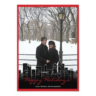 Christmas in New York Photo Card 13 Cm X 18 Cm Invitation Card
