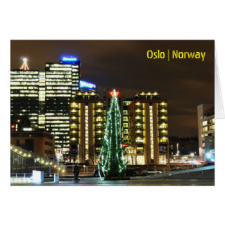Christmas in Oslo, Norway Card