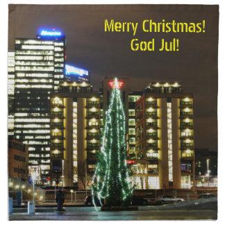 Christmas in Oslo, Norway Napkin