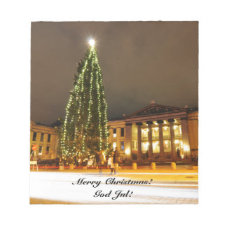 Christmas in Oslo, Norway Notepad