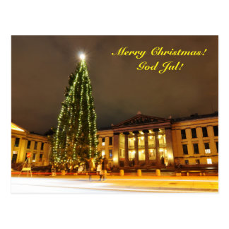 Christmas in Oslo, Norway Postcard