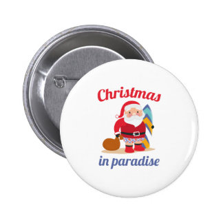 Christmas In Paradise 6 Cm Round Badge