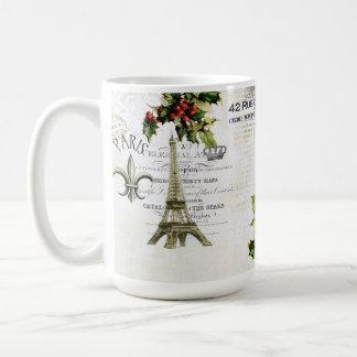Christmas in Paris Eiffel Tower coffee mug