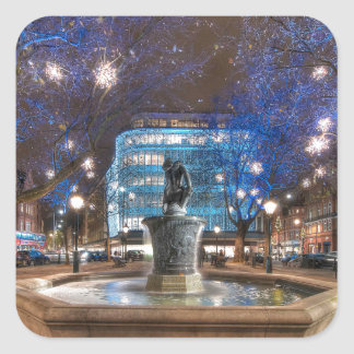 Christmas in Sloane Square Square Sticker