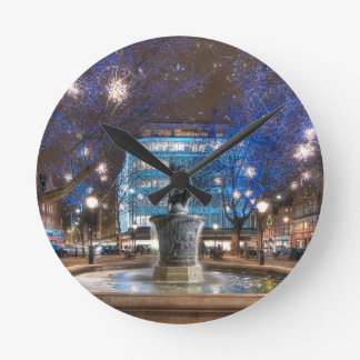 Christmas in Sloane Square Wall Clocks