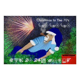 Christmas in the 70's poster