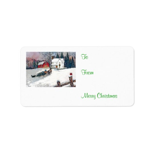 Christmas in the Country Label