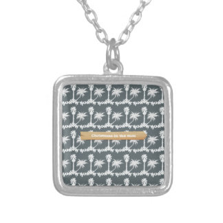 Christmas in the Sun Beach Christmas Silver Plated Necklace