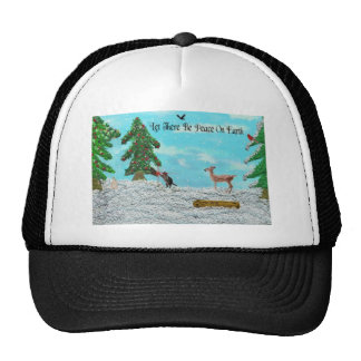 Christmas in the woods cap