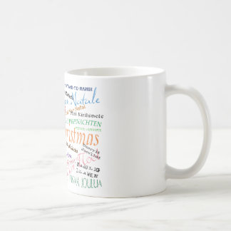 Christmas in the world basic white mug