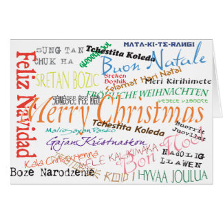 Christmas in the world greeting card