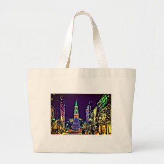 Christmas in town large tote bag