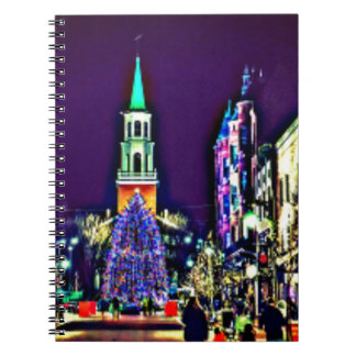 Christmas in town notebook