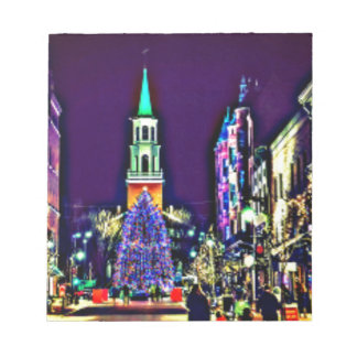Christmas in town notepad