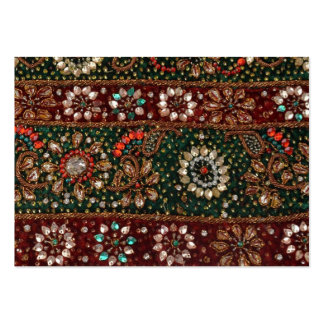 Christmas India Indian Textile Embroidery Bling Pack Of Chubby Business Cards