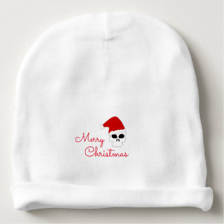 Christmas Infant Hat/Christmas Santa Skull Baby Beanie