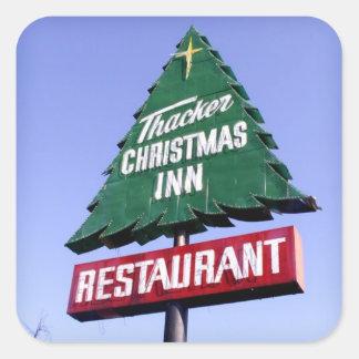 Christmas Inn Square Sticker