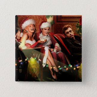 Christmas Interlude 15 Cm Square Badge