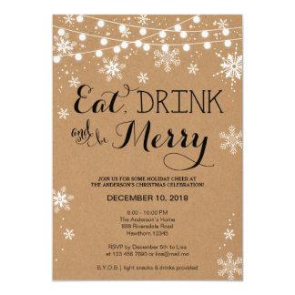 Christmas Invitation / Eat Drink & Be Merry Invite