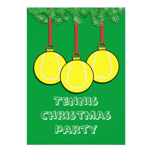 Christmas Invitations for Tennis