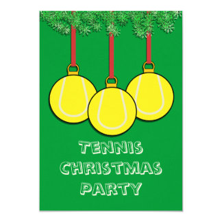 Christmas Invitations for Tennis