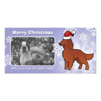 Christmas Irish / English / Gordon / R&W Setter Photo Greeting Card