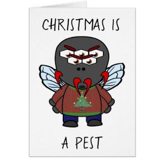 Christmas Is A Pest Housefly Card