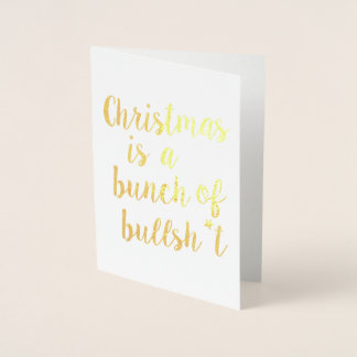 Christmas is Bull - typographic card