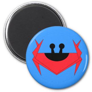 Christmas Island crab (blue) 6 Cm Round Magnet